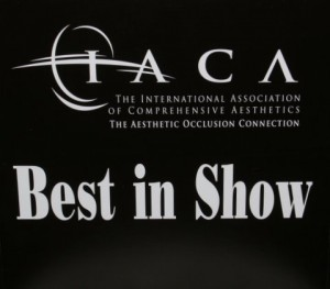 "Winner ""Best in Show"" at the 2012 International Assocation of Comprehensive Aesthetics (IACA)"